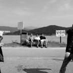 Trio d'en bas Gyeongju Coree-du-sud