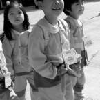 Enfants partent à l'école - Hansando Coree-du-sud