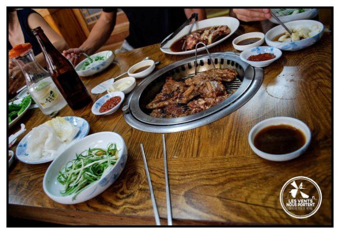 Corée du sud pratique restaurant de grillade