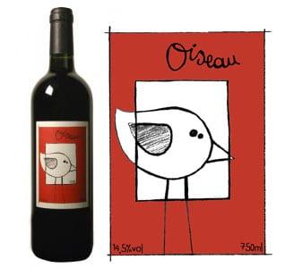 Oiseau Collines de l'hirondelle Vin de France