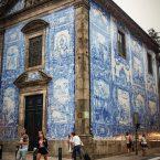 les azulejos de l'eglise santa catarina a porto voyage portugal