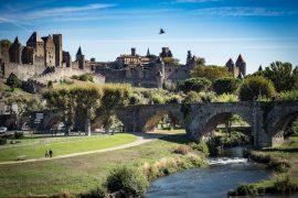 vue de la cité de carcassonne patrimoine mondial de l'unesco