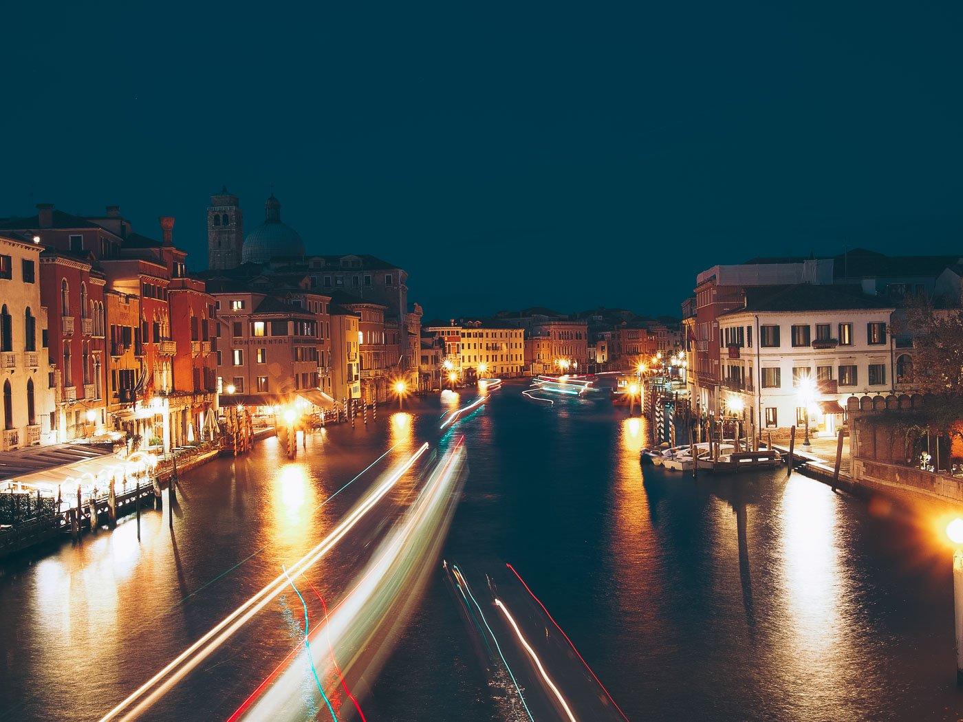 Visiter Venise la nuit, voyage en Italie